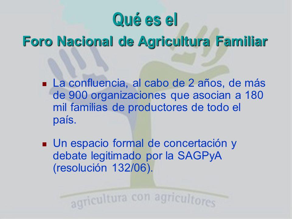 Qué es el Foro Nacional de Agricultura Familiar