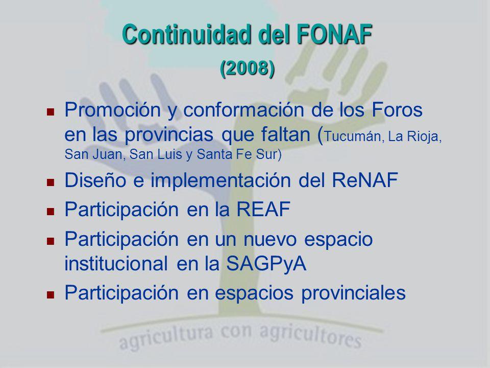Continuidad del FONAF (2008)