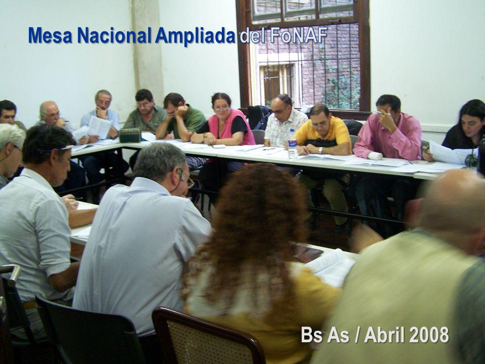Mesa Nacional Ampliada del FoNAF