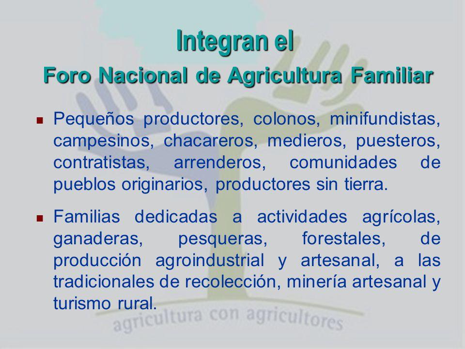 Integran el Foro Nacional de Agricultura Familiar