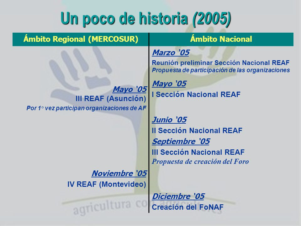 Ámbito Regional (MERCOSUR)