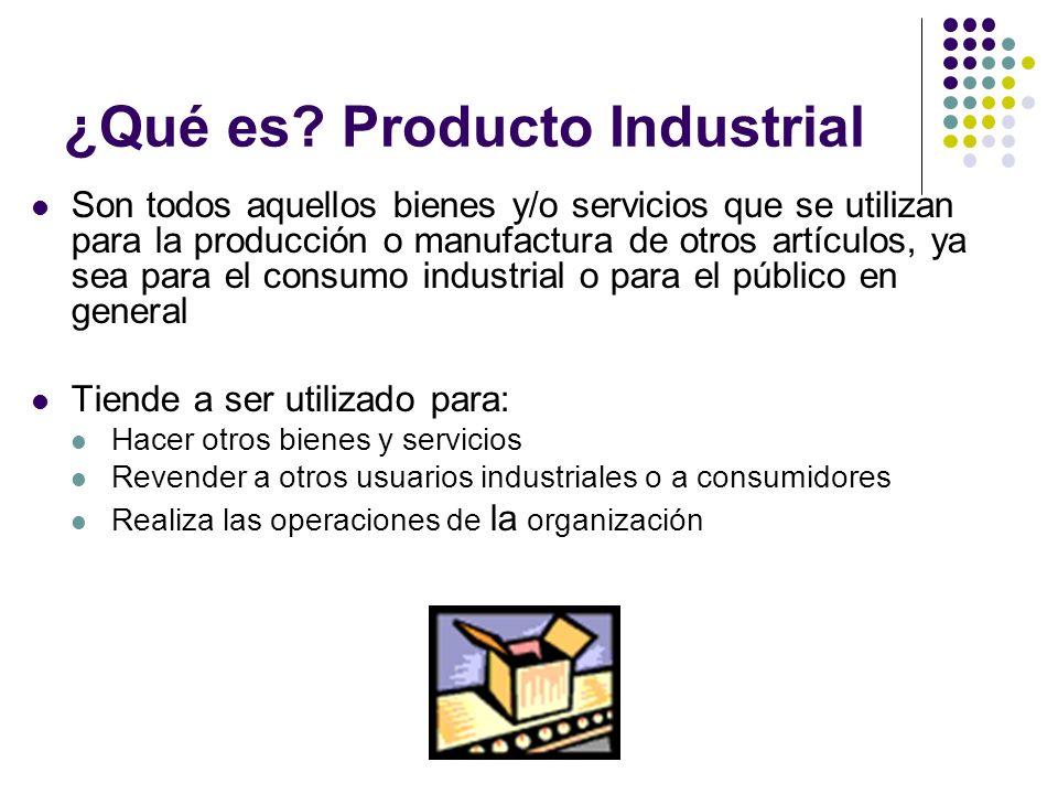 ¿Qué es Producto Industrial