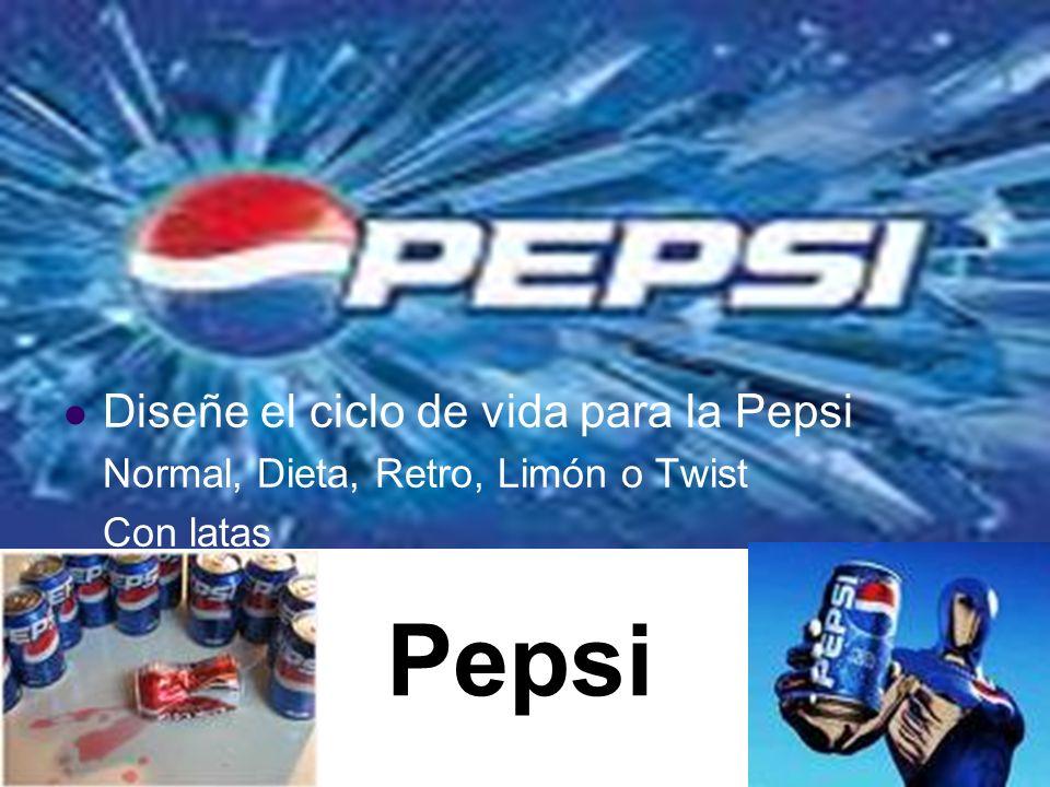Pepsi Diseñe el ciclo de vida para la Pepsi
