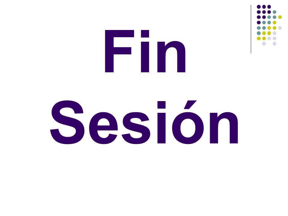 Fin Sesión