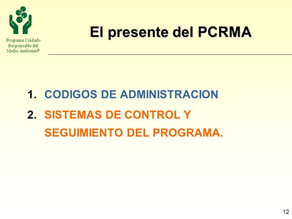 El presente del PCRMA CODIGOS DE ADMINISTRACION