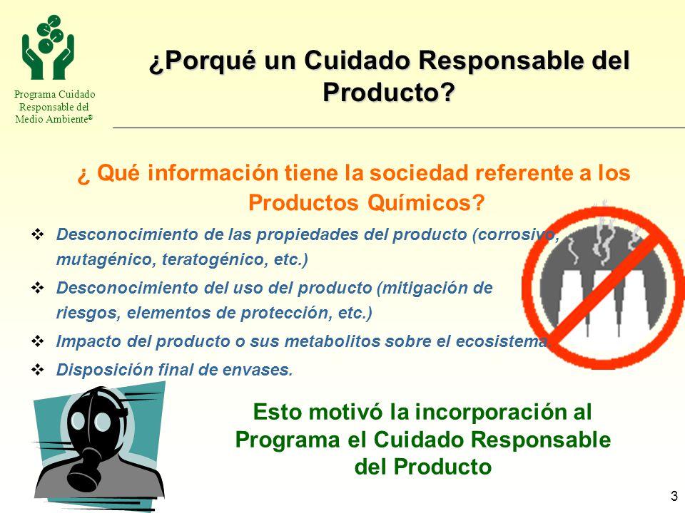 ¿Porqué un Cuidado Responsable del Producto