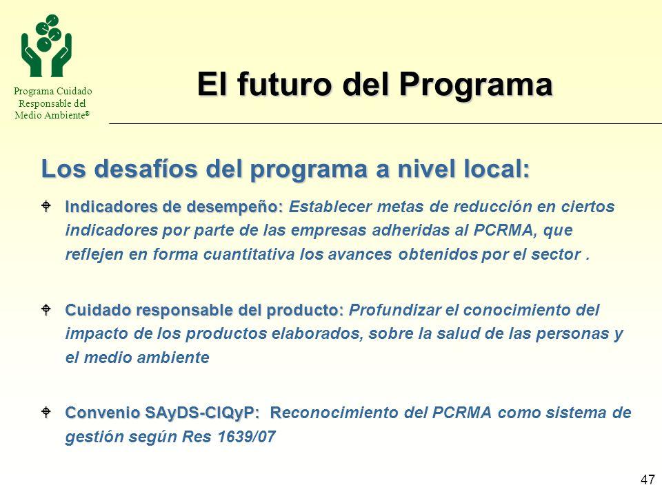 El futuro del Programa Los desafíos del programa a nivel local: