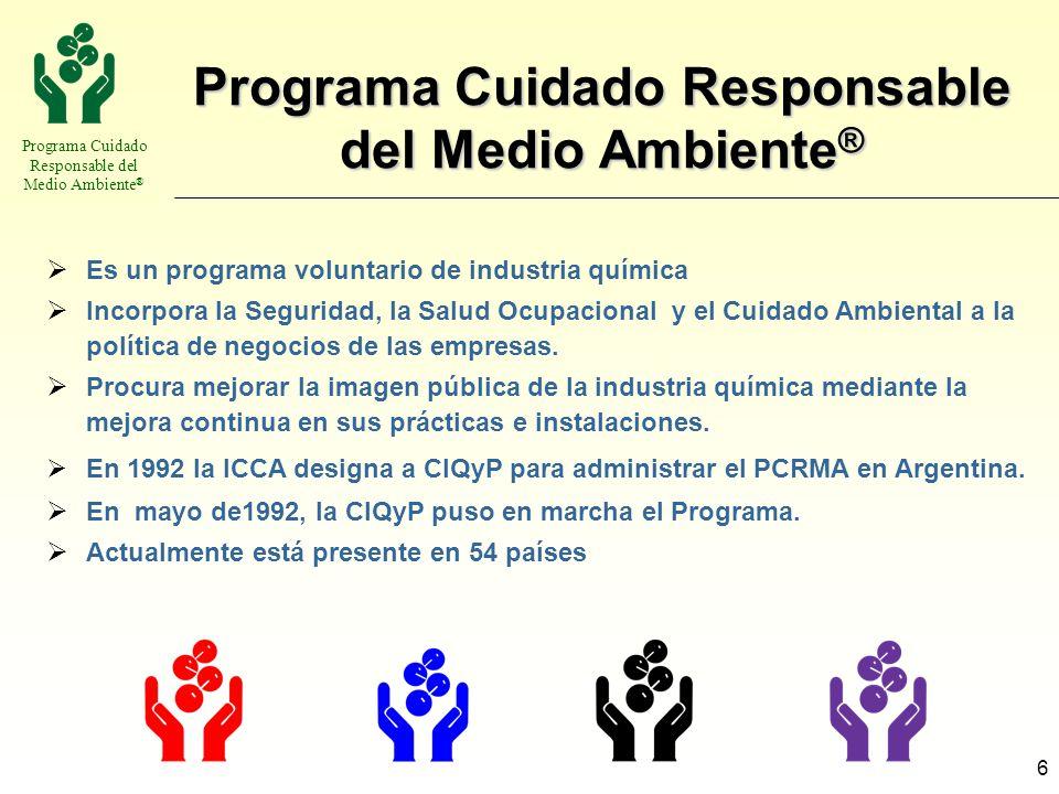 Programa Cuidado Responsable del Medio Ambiente®