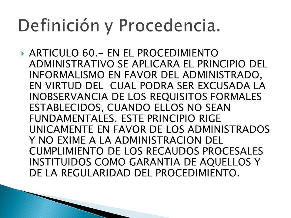 Definición y Procedencia.