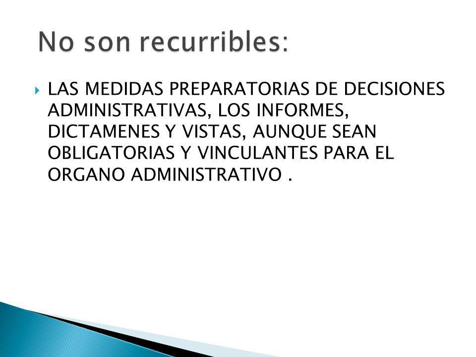 No son recurribles: