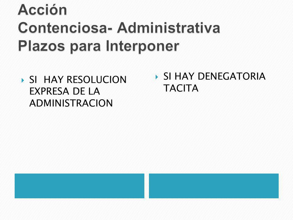 Acción Contenciosa- Administrativa Plazos para Interponer