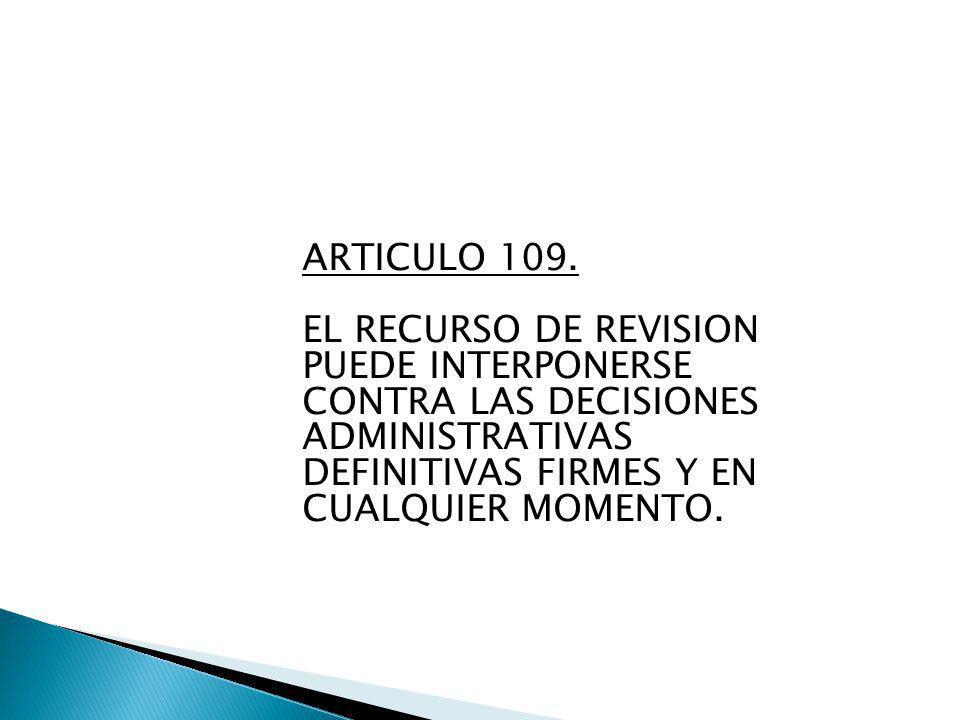 ARTICULO 109.