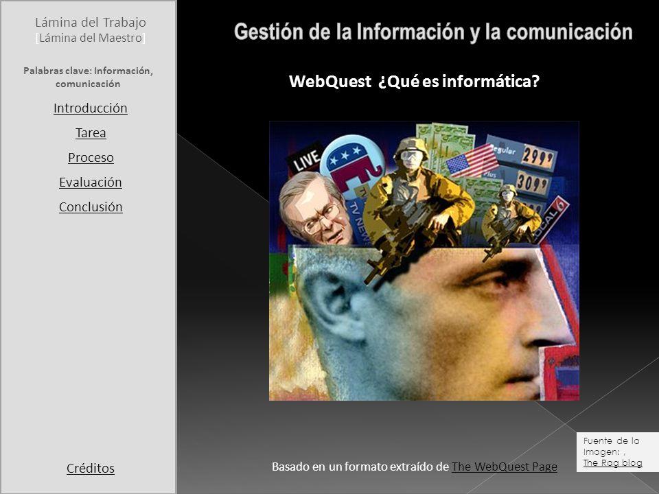 Gestión de la Información y la comunicación