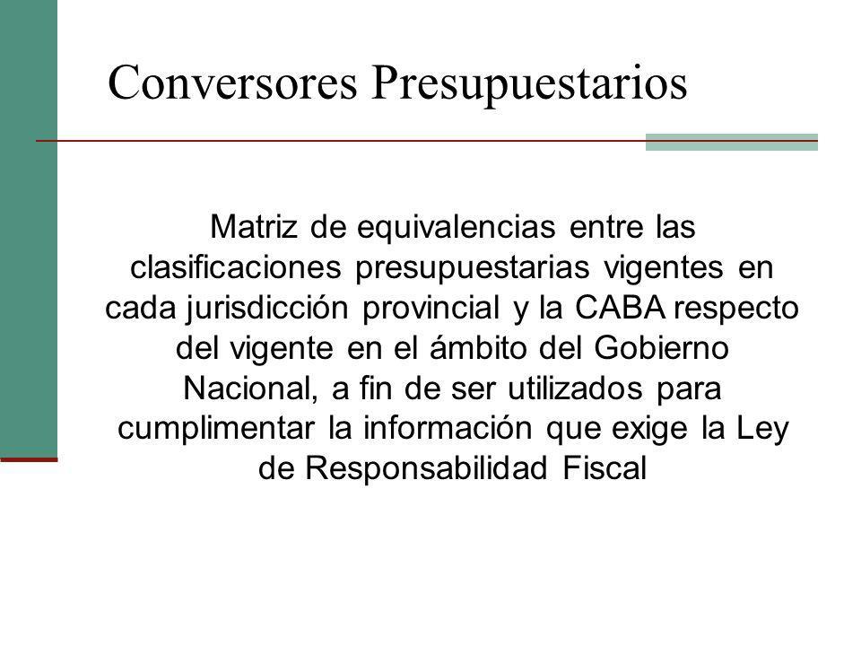 Conversores Presupuestarios