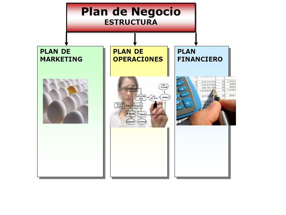 Plan de Negocio ESTRUCTURA PLAN DE MARKETING PLAN DE OPERACI0NES PLAN