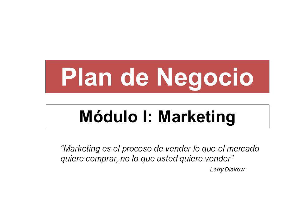 Plan de Negocio Módulo I: Marketing