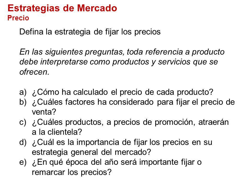 Estrategias de Mercado Precio