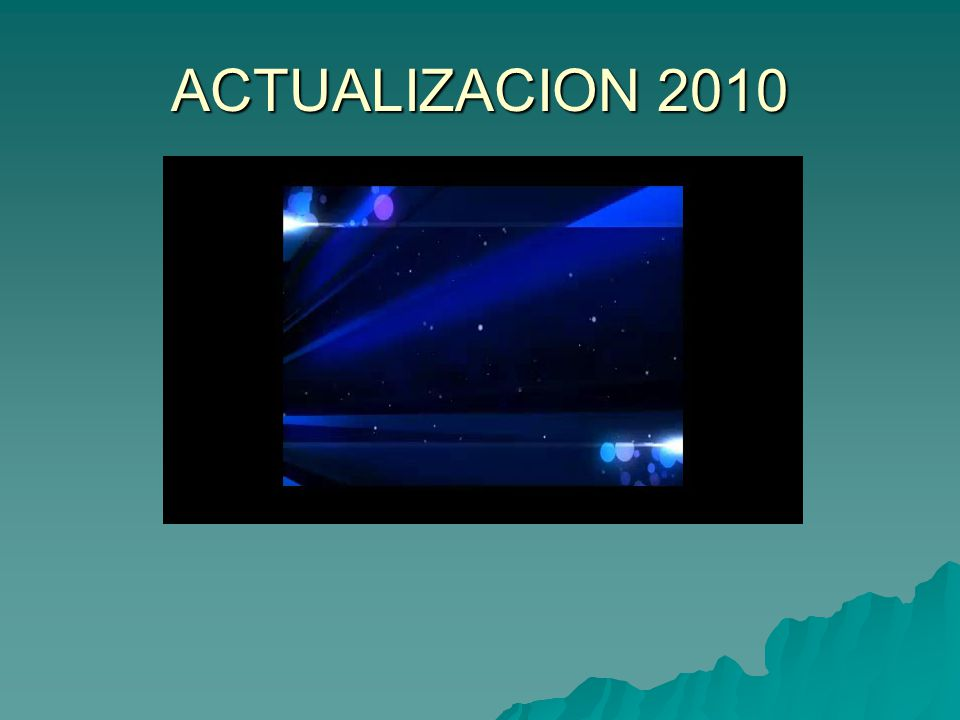 ACTUALIZACION 2010