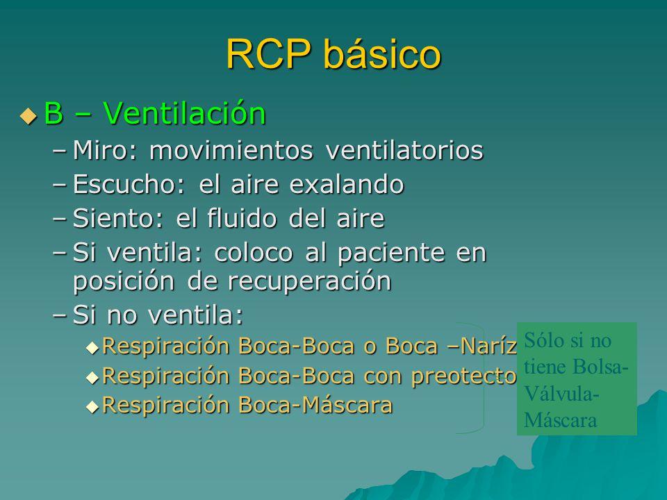 RCP básico B – Ventilación Miro: movimientos ventilatorios