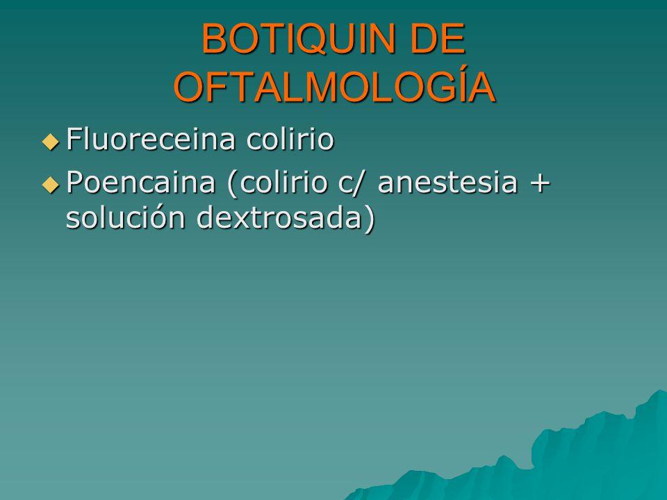 BOTIQUIN DE OFTALMOLOGÍA