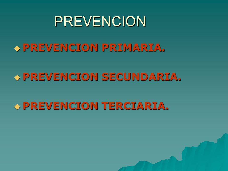 PREVENCION PREVENCION PRIMARIA. PREVENCION SECUNDARIA.