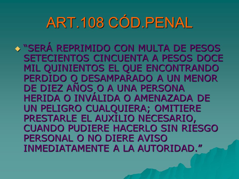 ART.108 CÓD.PENAL