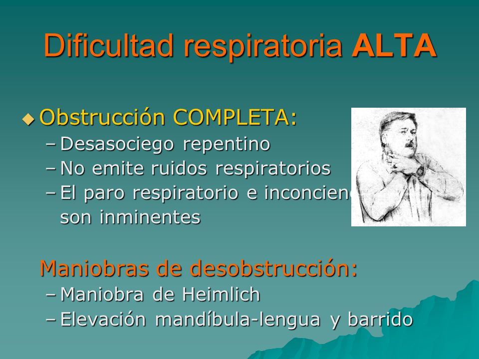 Dificultad respiratoria ALTA