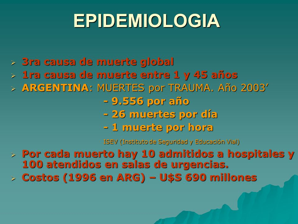EPIDEMIOLOGIA 3ra causa de muerte global
