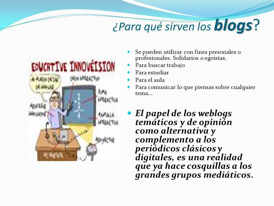 ¿Para qué sirven los blogs
