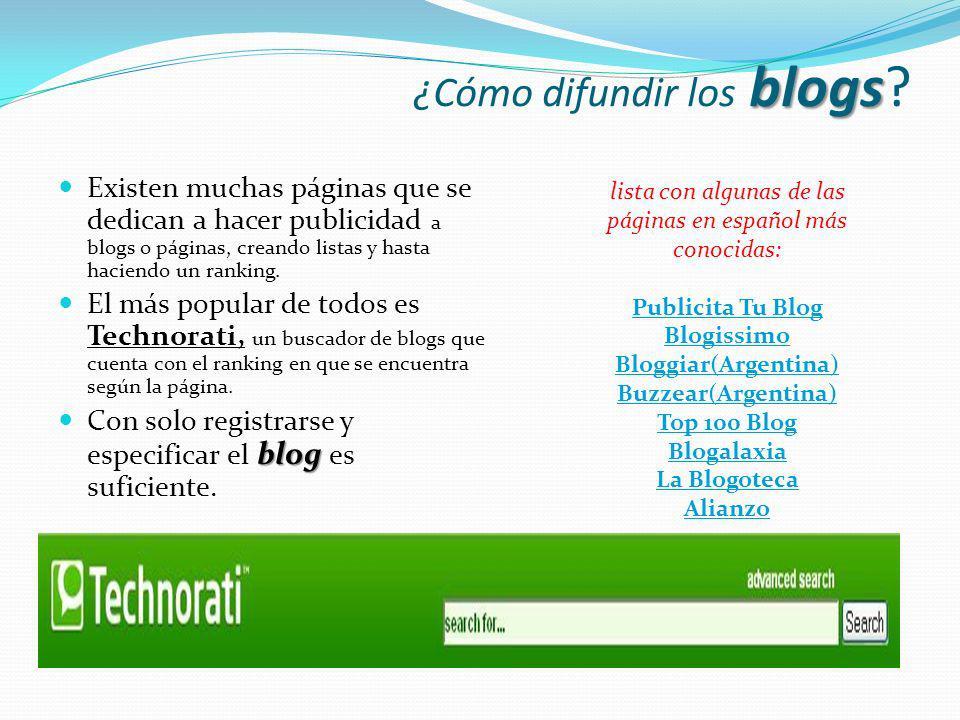 ¿Cómo difundir los blogs