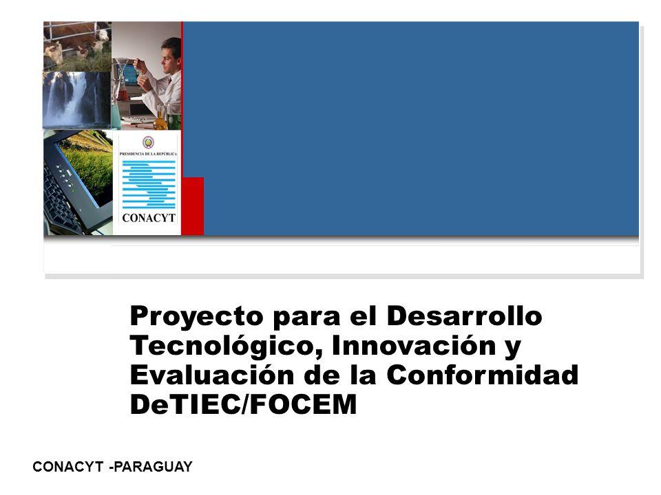 Proyecto para el Desarrollo Tecnológico, Innovación y Evaluación de la Conformidad DeTIEC/FOCEM