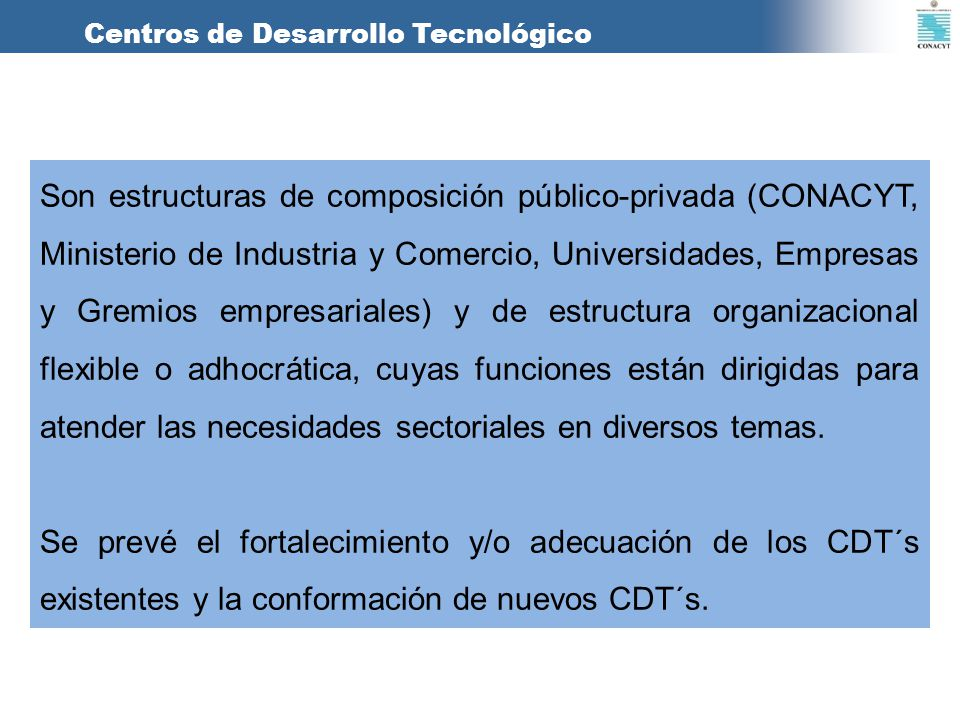 Centros de Desarrollo Tecnológico