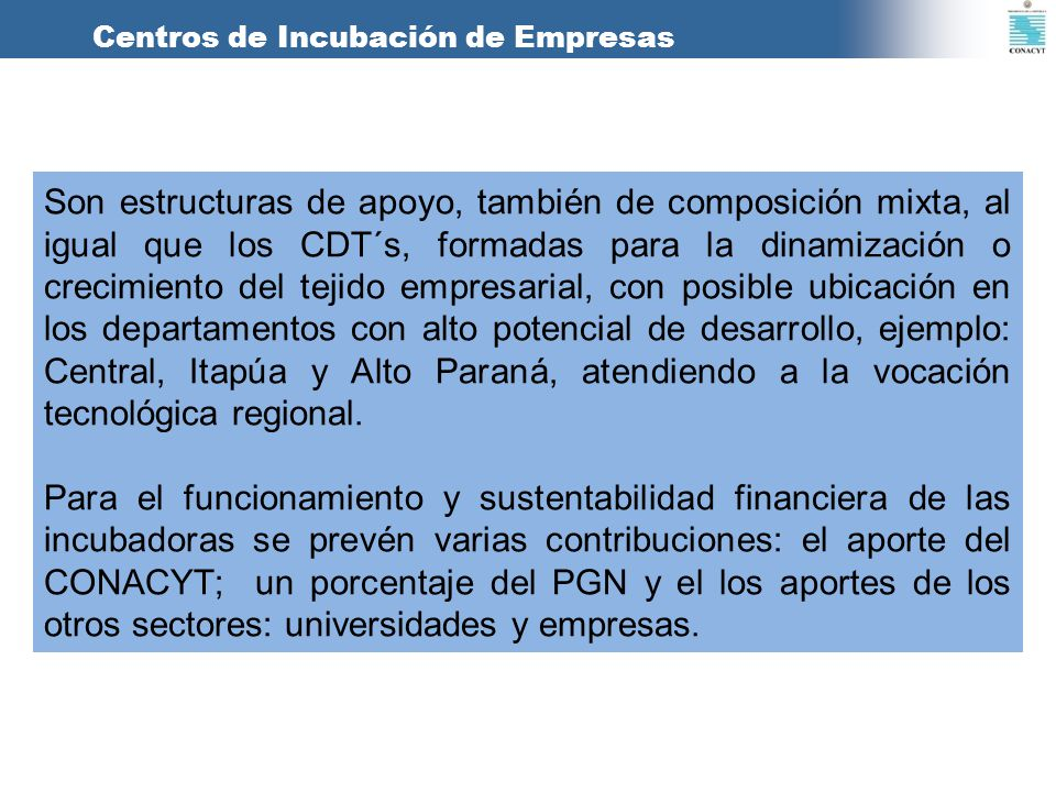 Centros de Incubación de Empresas