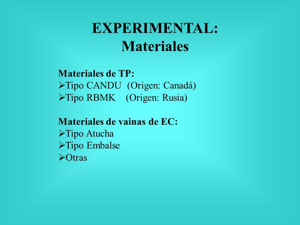 EXPERIMENTAL: Materiales