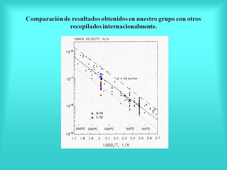 Comparación de resultados obtenidos en nuestro grupo con otros recopilados internacionalmente.
