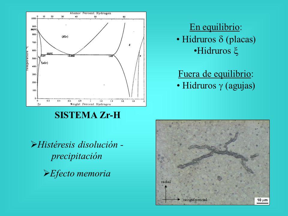 Histéresis disolución -precipitación