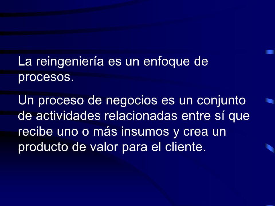 La reingeniería es un enfoque de procesos.
