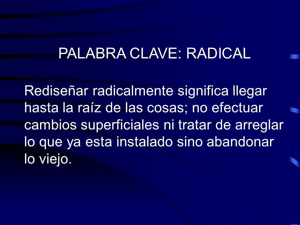 PALABRA CLAVE: RADICAL
