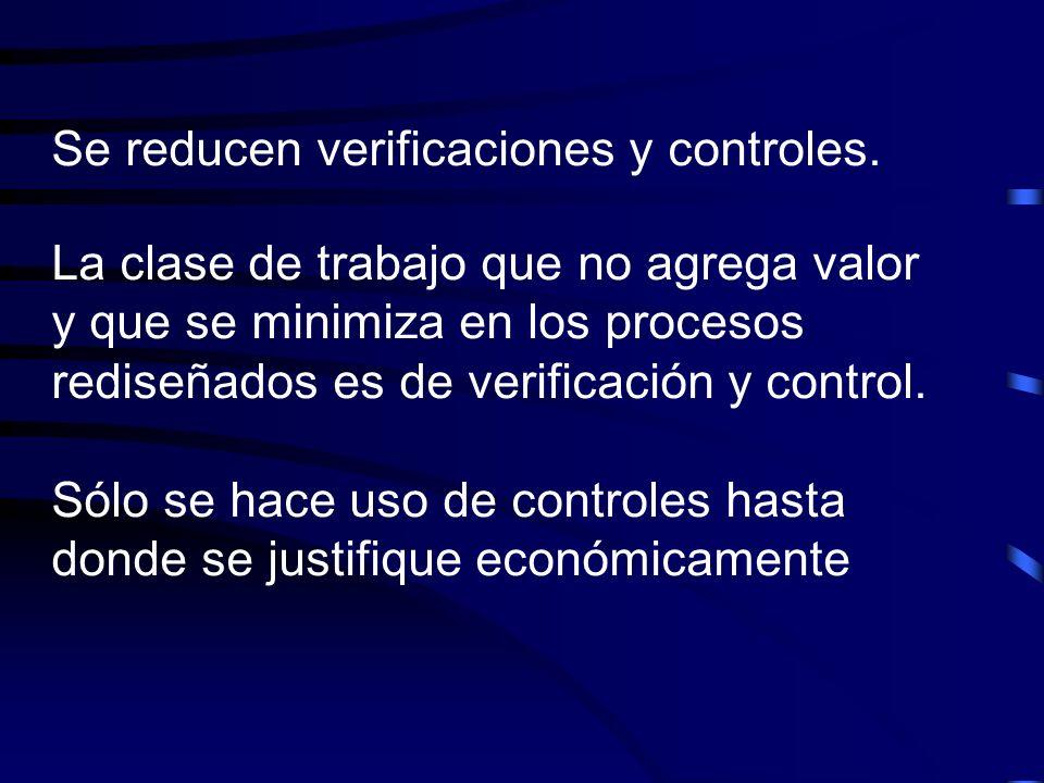 Se reducen verificaciones y controles.