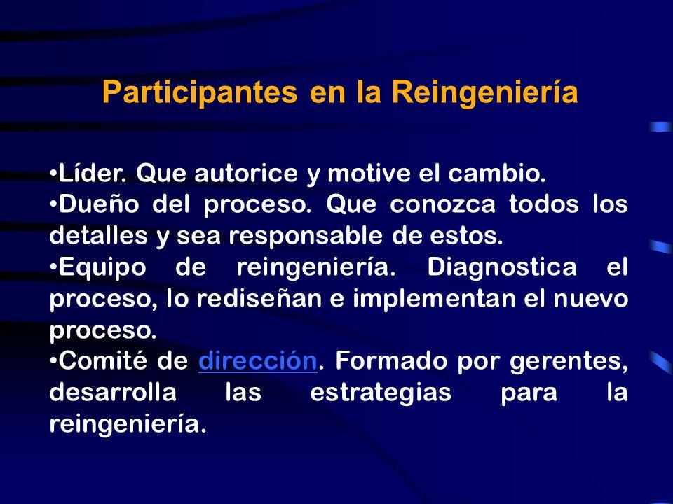 Participantes en la Reingeniería