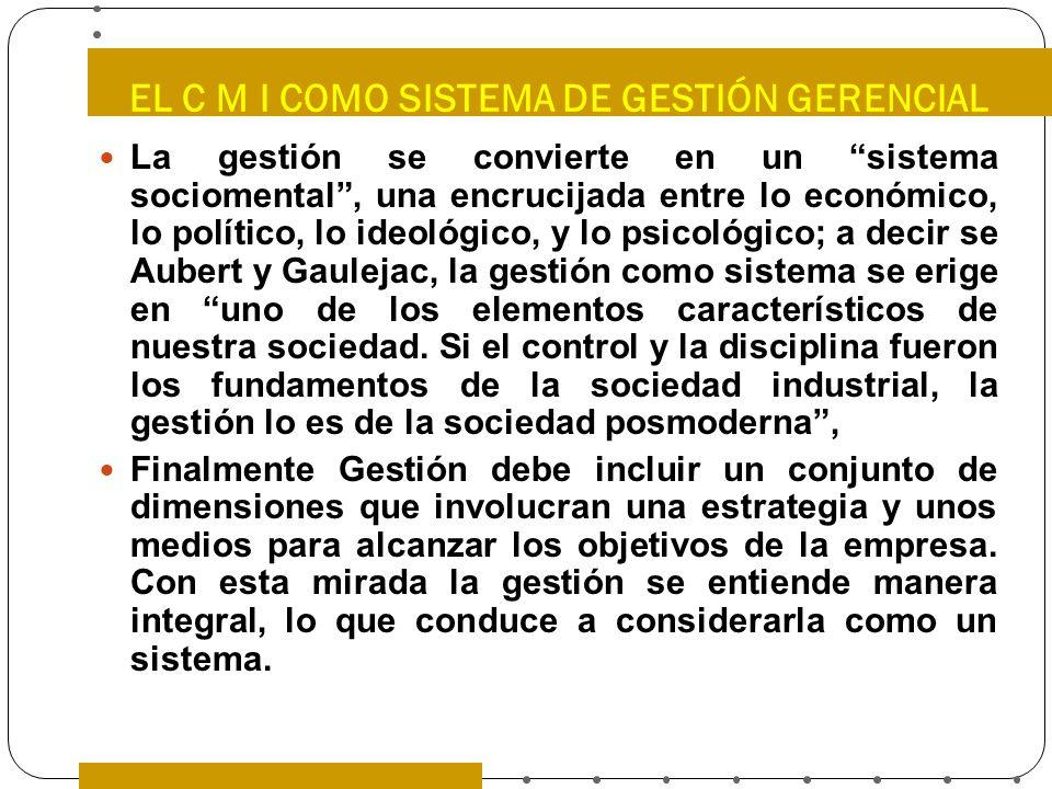 EL C M I COMO SISTEMA DE GESTIÓN GERENCIAL