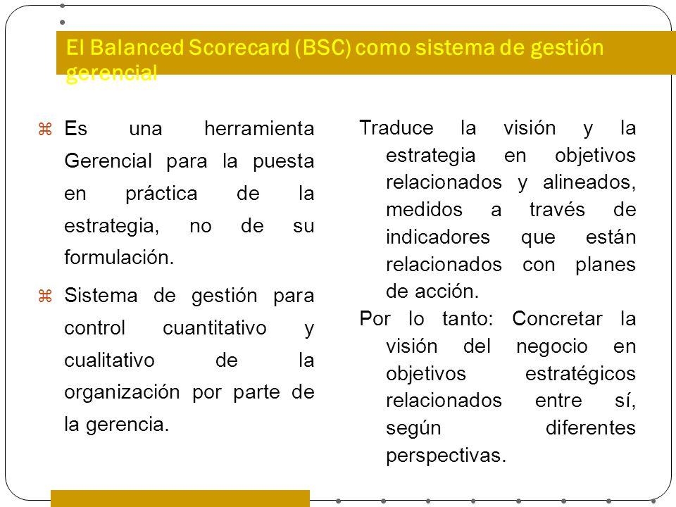 El Balanced Scorecard (BSC) como sistema de gestión gerencial