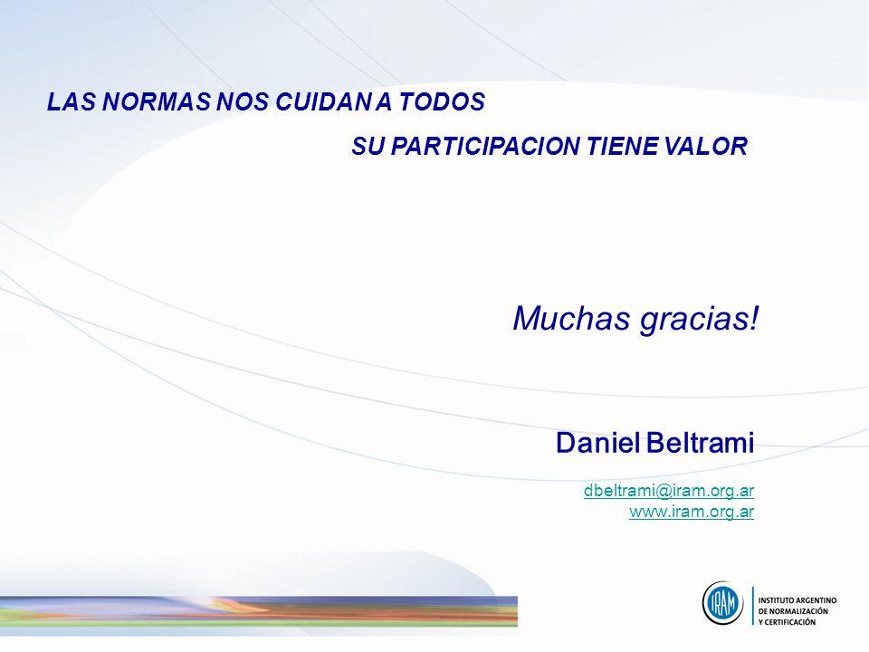 Muchas gracias! LAS NORMAS NOS CUIDAN A TODOS