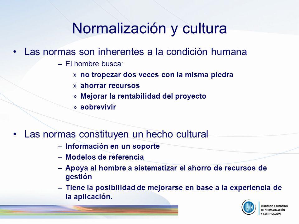 Normalización y cultura
