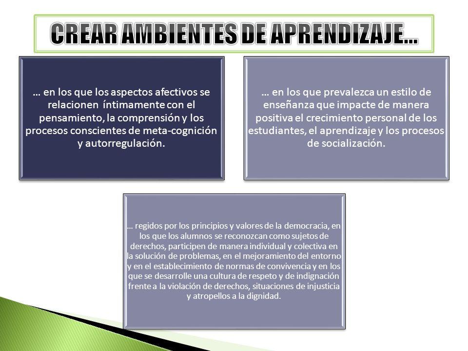 CREAR AMBIENTES DE APRENDIZAJE…