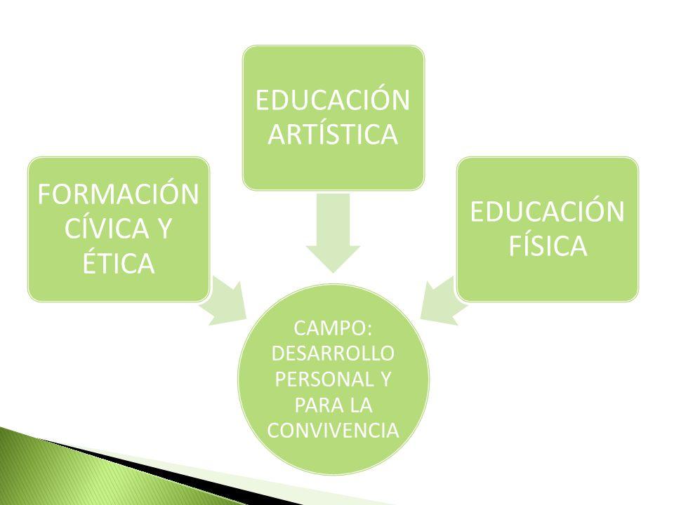 FORMACIÓN CÍVICA Y ÉTICA EDUCACIÓN ARTÍSTICA