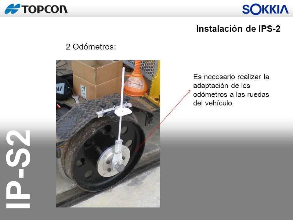 Instalación de IPS-2 2 Odómetros: