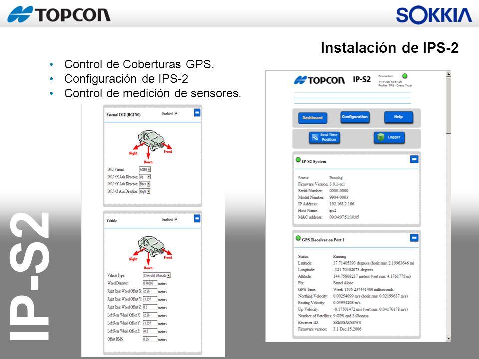 Instalación de IPS-2 Control de Coberturas GPS. Configuración de IPS-2