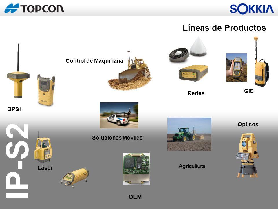 Líneas de Productos Control de Maquinaria GIS Redes GPS+ Opticos