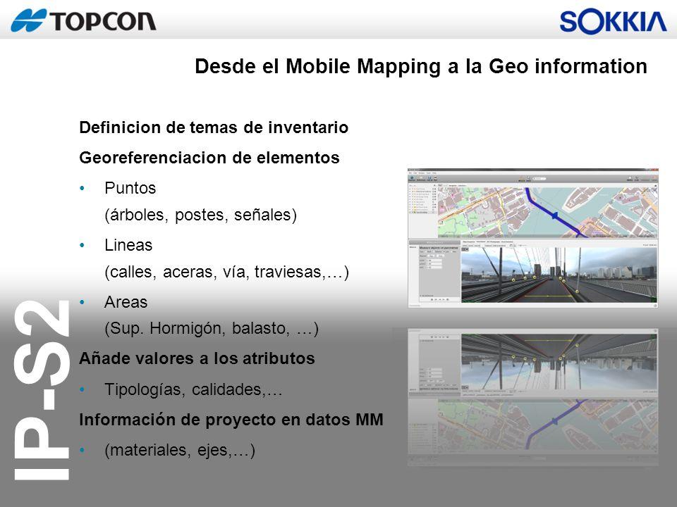 Desde el Mobile Mapping a la Geo information